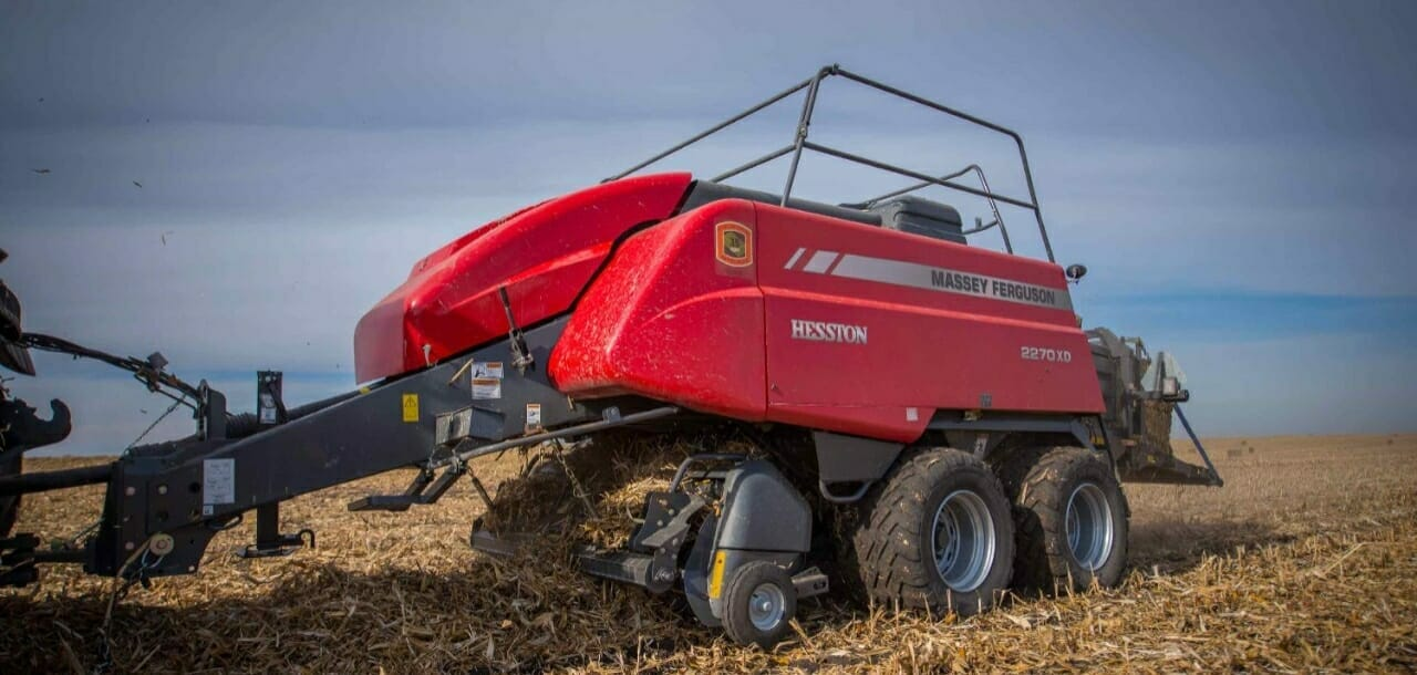 Massey Ferguson 2200 Series Large Square Baler in a field.
