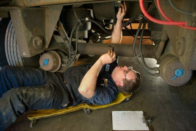 Ziegler technician working on wires