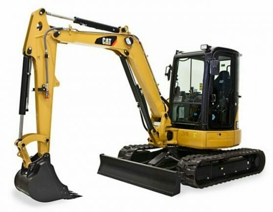 yellow Cat mini excavator