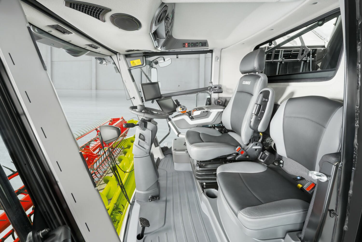 Inside Cab of CLAAS LEXION Combine 8000-7000 Series