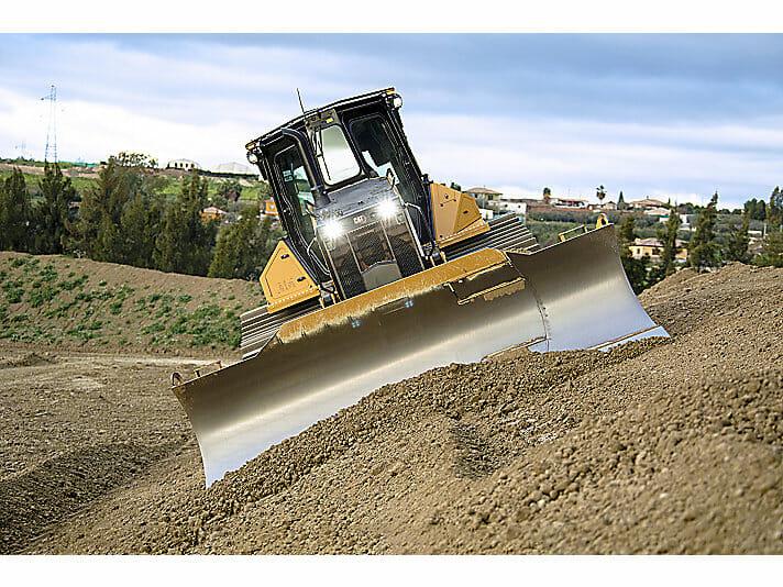 3D Grade Assist, Bulldozer on steep slope