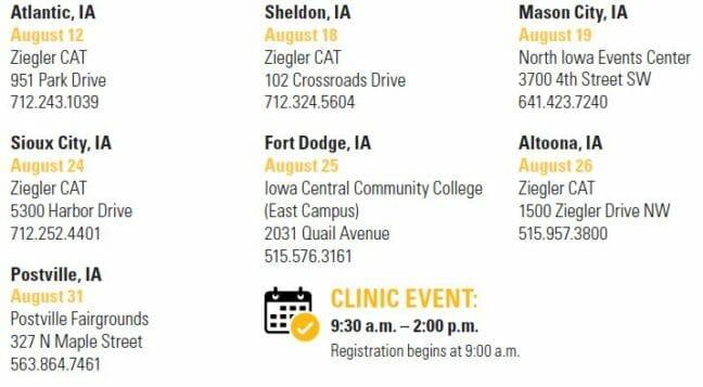 Combine Clinic Schedule IA