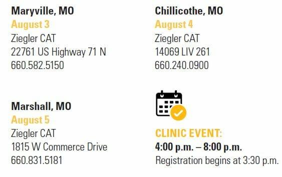 Combine Clinic Event Schedule MO