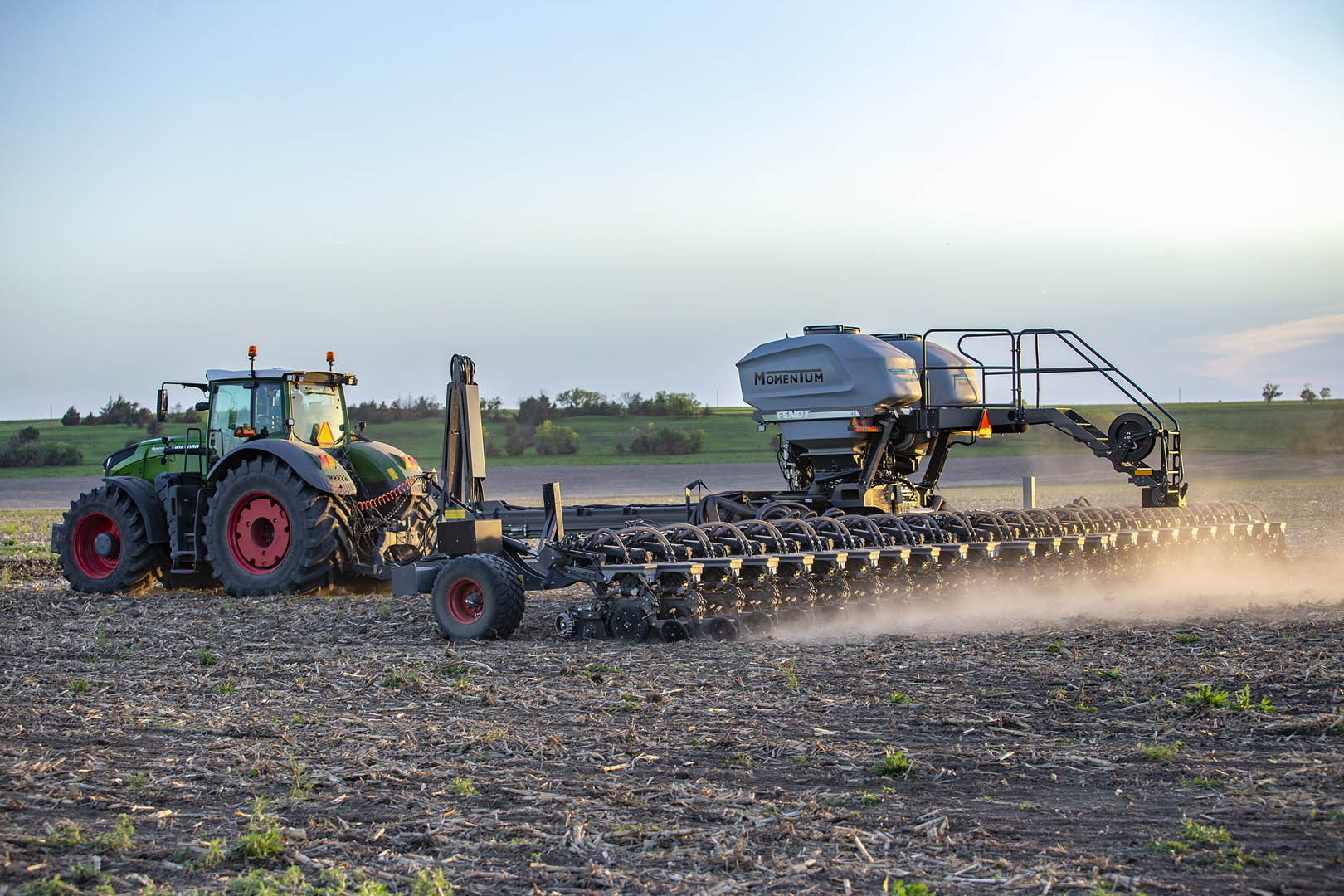 Fendt Momentum Planter working in the field during day