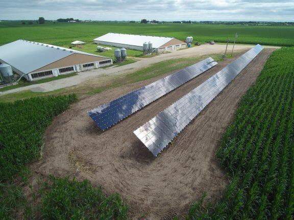 Solar panels on a farm, Solar tax credits