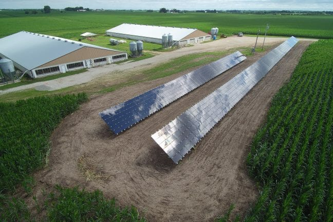 Solar panels on a farm, Solar tax credits