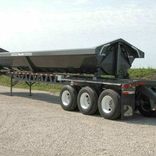 Steel Side Dump Trailer