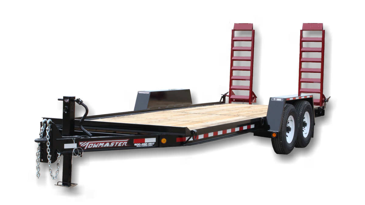 red and black towmaster trailer