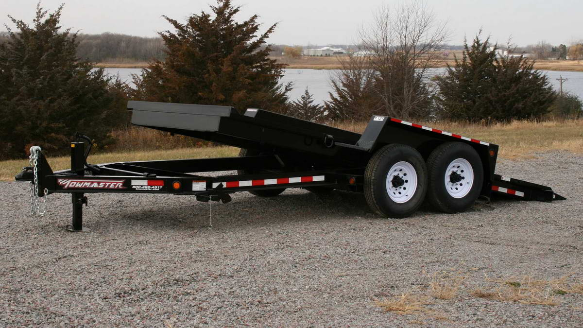towmaster trailer in a gravel lot