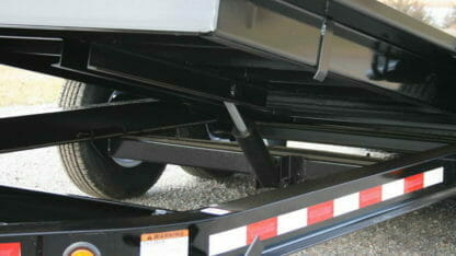 close-up of a towmaster drop-deck trailer