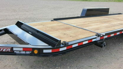 ariel photo of a towmaster drop-deck trailer