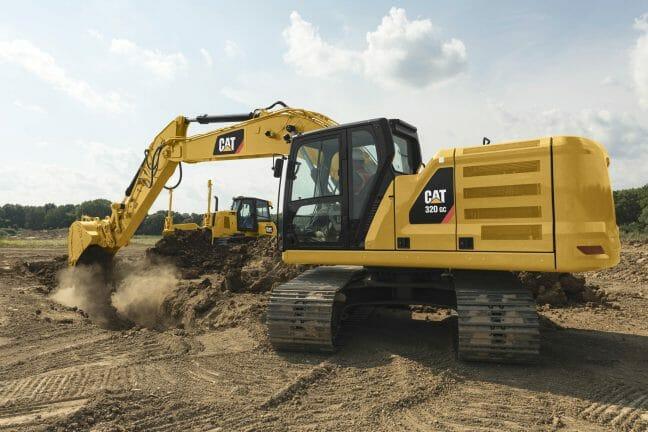 Cat 320GC Excavator digging dirt on a jobsite