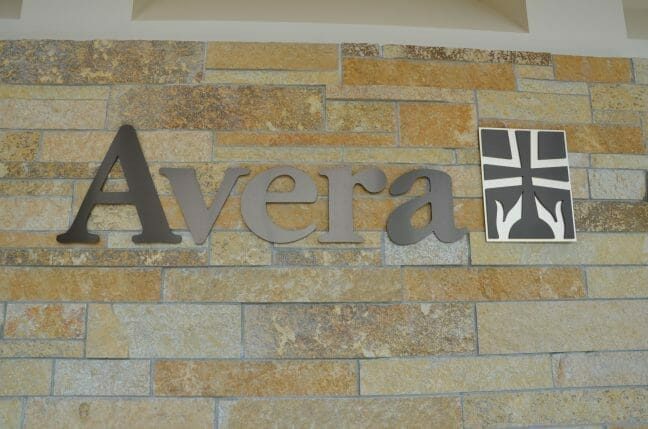 Avera Medical sign on a brick wall outside of a building