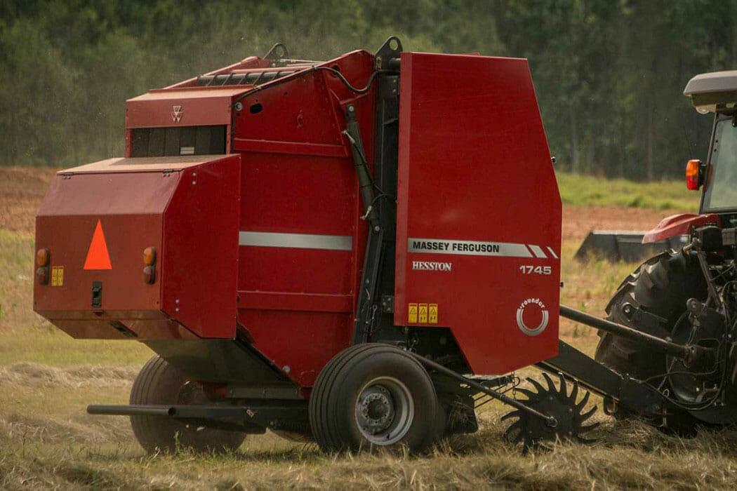 Massey Ferguson 1700 Series Baler in Field
