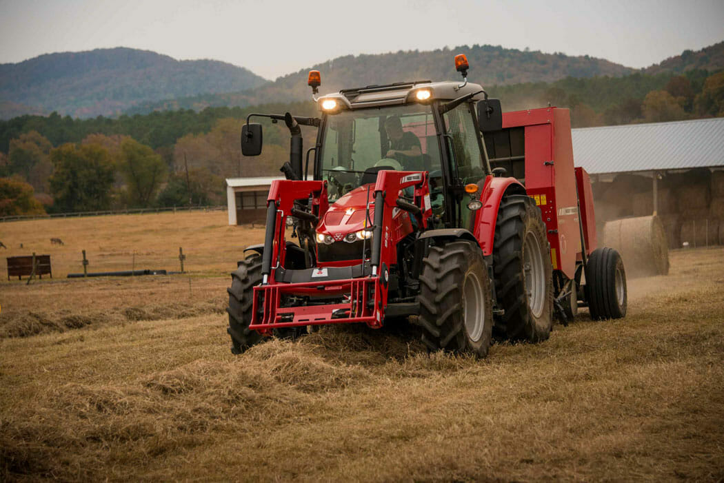 Massey Ferguson 1700 Series Baler in Field
