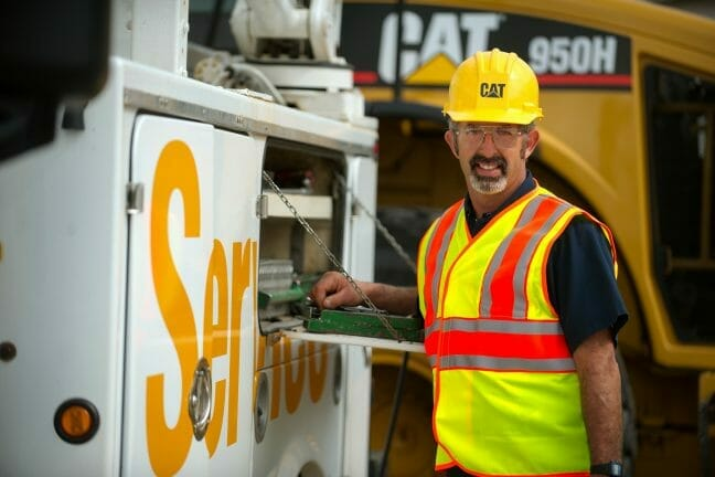service technician wearing vest